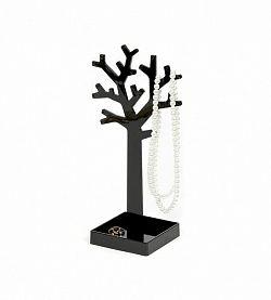 Stojan na šperky v tvare stromu Compactor - čierny plast