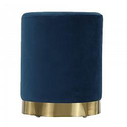 Tempo Kondela Taburet, modrá Velvet látka/gold chróm-zlatá, ALAZ