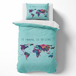 Towee Bavlnené obliečky Travel the World, 140 x 200 cm, 70 x 90 cm