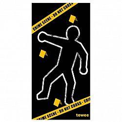 Towee rýchloschnúca osuška CRIME SCENE, 80 x 160 cm