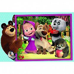 Trefl Puzzle Máša a medveď, MAXI 24 dielikov