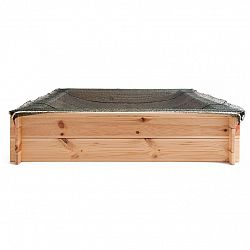 Woody Pieskovisko drevené - štvorcové, natur