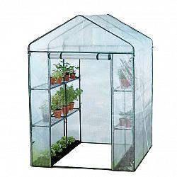 Záhradný fóliovník s policami 140 x 140 x 200 cm