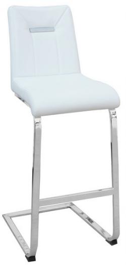 Barová stolička Flex, biela ekokoža
