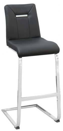 Barová stolička Flex, čierna ekokoža