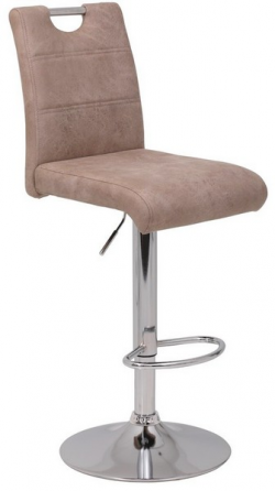 Barová stolička Miranda, béžová vintage látka