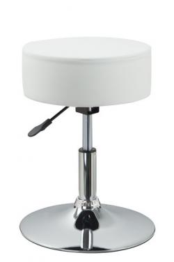Barová stolička Rocohal, biela ekokoža