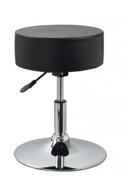 Barová stolička Rocohal, čierna ekokoža