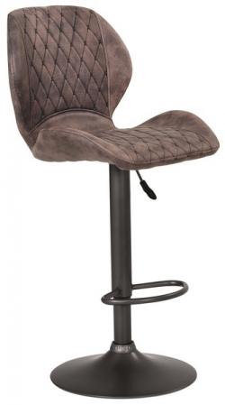 Barová stolička Sonja, hnedá vintage látka