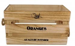 Drevená bednička Oranges, vel. L