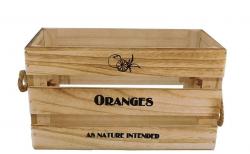 Drevená bednička Oranges, vel. M