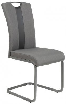 Jedálenská stolička Amber 2, šedá látka / ekokoža