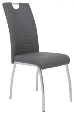 Jedálenská stolička Andrea, šedá ekokoža