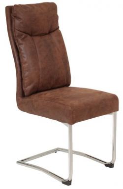 Jedálenská stolička Brenda, hnedá vintage optika koža
