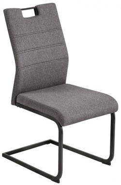 Jedálenská stolička Calli, šedá látka