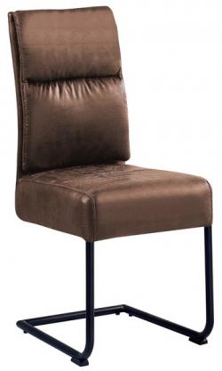 Jedálenská stolička Chelsea, hnedá vintage látka