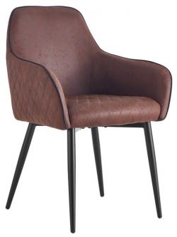 Jedálenská stolička Colonial, hnedá vintage