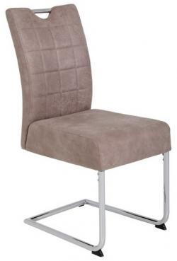 Jedálenská stolička Denise 2, béžová vintage optika koža