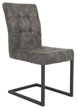 Jedálenská stolička Donna S, hnedá vintage optika kože