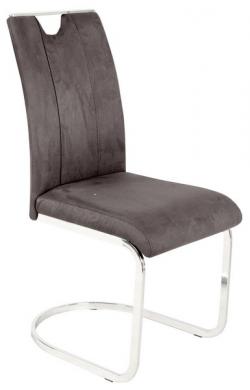 Jedálenská stolička Fabienne, tmavo šedá látka