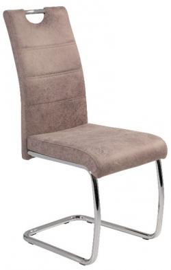 Jedálenská stolička Flora 2, béžová vintage látka