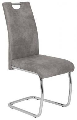 Jedálenská stolička Flora 2, šedá vintage látka