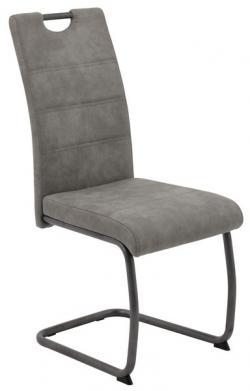 Jedálenská stolička Flora 4, šedá vintage látka