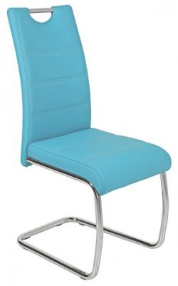 Jedálenská stolička Flora, petrolejovo modrá ekokoža