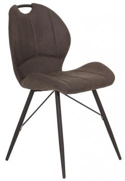Jedálenská stolička Kate, antracitová vintage látka
