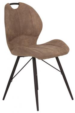 Jedálenská stolička Kate, hnedá vintage látka