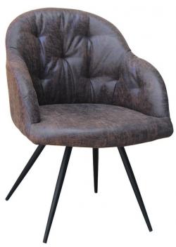 Jedálenská stolička Maryland, hnedá vintage látka