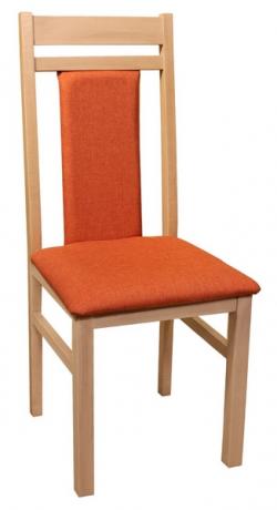 Jedálenská stolička Michaela, dub/oranžová
