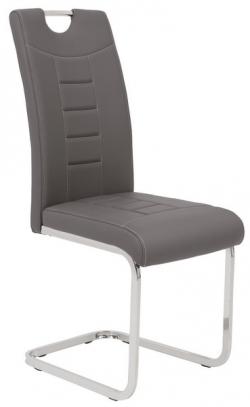 Jedálenská stolička Ruby, šedá ekokoža