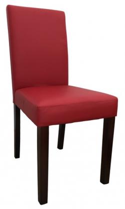 jedálenská stolička Rudy, červená ekokoža