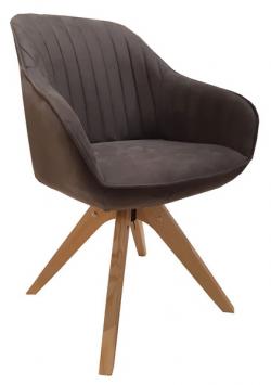Jedálenská stolička Viborg, šedá vintage látka