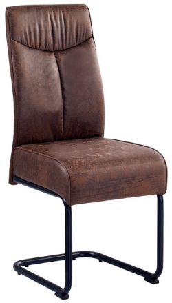 Jedálenská stolička York, hnedá vintage látka