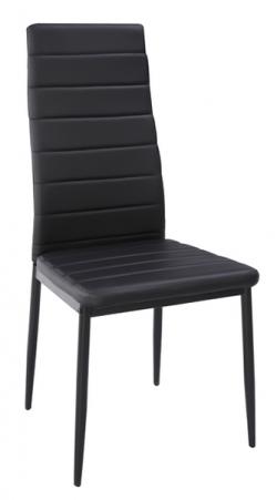 Jedálenská stolička Zita, čierna ekokoža