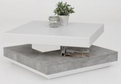 Konferenčný stolík Andy, biely / sivý betón