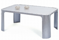 Konferenčný stolík Gormur, šedý vintage povrch