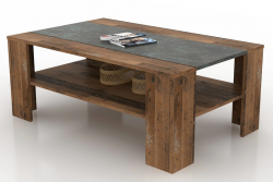 Konferenčný stolík Pico,  tmavý betón/vintage optika dreva