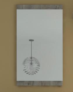 Nástenné zrkadlo Askon 52, dub ribbeck