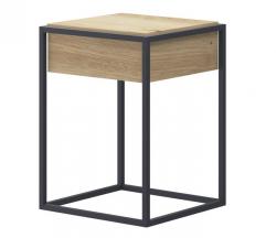 Odkladací stolík so zásuvkou Enjoy, dub artisan