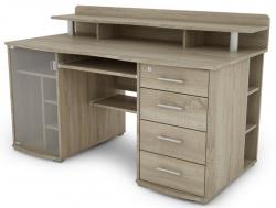 PC stôl Picasso, dub sonoma