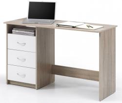 Písací stôl Adria, dub sonoma/biela