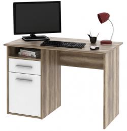 Písací stôl Miro, dub Canyon/biela
