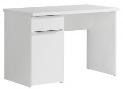 Písací stôl so zásuvkou Opus, biely