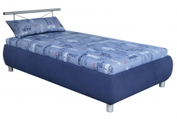 Posteľ Caribic 110x200 cm, modrá