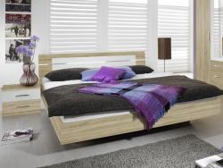 Posteľ s nočnými stolíkmi Burano 180x200 cm, dub sonoma/biela