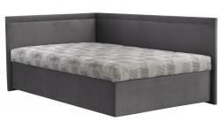 Rohová posteľ Travis ľavá120x200, šedá látka