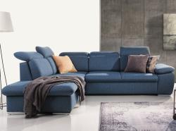 Rohová sedacia súprava Aldon OTM-2F, modrá tkanina